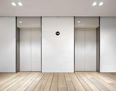Elevator lobby #officedesign