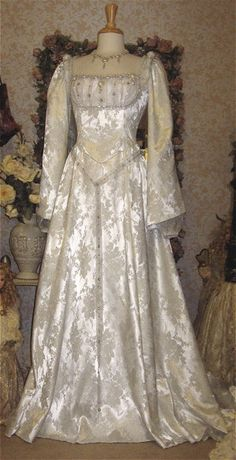 Medieval Princess Wedding Gown Custom Colors by RomanticThreads, $750.00