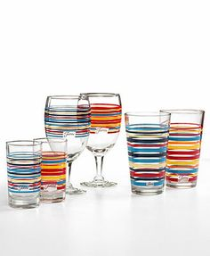 Fiesta Macy's Exclusive Glassware, Sets of 4 Collection
