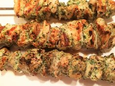 Chicken kebabs with herbs, Food And Drinks, Chicken kebabs with herbs. Bar B Q, Kraut, Ketchup, Kebabs, Zucchini, Chicken Recipes, Grilling, Bbq, Good Food