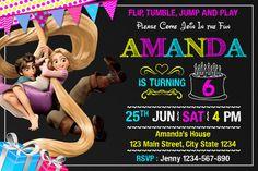 Invitación de Rapunzel enredado. Invitación de por ARSPINK en Etsy