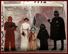 Star Wars Costume Pattern  Mostly UNCUT by VintagePatternsDepot