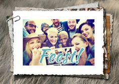 Uitnodiging fotostapel fuif RB, verkrijgbaar bij #kaartje2go voor €1,89