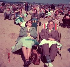 Dressed for the beach in the old days! Brighton Beach