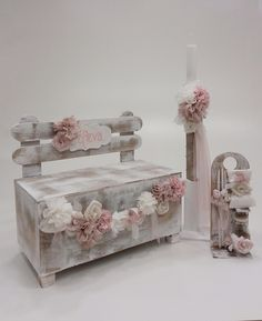 Garden Bench Ballerina Cakes, Baby Girl Baptism, Baby Hamper, Decoupage Box, Diy For Girls, Christening, Diy Home Decor, Diy And Crafts, Decorative Boxes