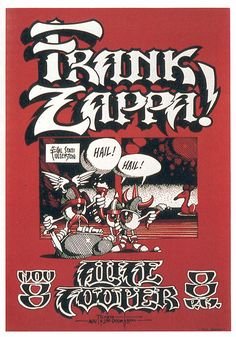 """tuhalb: """" orcusbrand: """" Rick Griffin """" this posters is one that i would really like to own. frank zappa, alice cooper and rick griffin art work ? does it get any better than that ? """""""