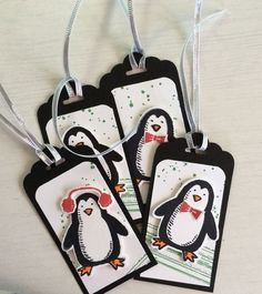 Snow Place gift tags with Stampin' Up! visit my blog for instructions and order link: http://djcardsandmore.typepad.com/my-blog