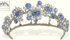 The Dutch Sapphire & Diamond Mellerio Tiara | diamond and blue sapphire floral tiara, auctioned off at Christie's.