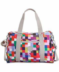 Kipling Handbag, Itska Print Duffle - Handbags & Accessories - Macy's