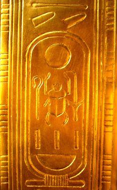 Cartouche of Tutankhamun from his tomb.