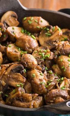 Steakhouse Roasted Mushrooms