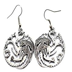 Game of Thrones Targaryen Dragon Earrings for women GT Costume jewellery Star Necklace, Diy Necklace, Pendant Necklace, Silver Necklaces, Jewelry Necklaces, Jewellery, Game Of Thrones Jewelry, Games To Buy, Women's Earrings