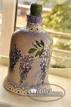 Decoupage - garrafa - cilindro