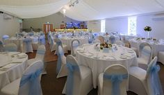The interior at Beaverwood Place, Chislehurst, Kent. Our beautiful has a dance floor and starlight ceiling. It can take 150 guests for a sit down meal and 300 for a party. Star Lights On Ceiling, Wedding Venues, Meal, Flooring, Dance, Table Decorations, Weddings, Interior, Wedding