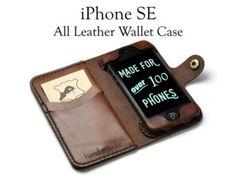 iPhone 6s Plus Leather Wallet Case/ Leather iPhone door HANDandHIDE