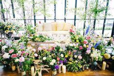 いいね!102件、コメント4件 ― saoriさん(@pilina_wedding)のInstagramアカウント: 「ゲストに色とりどりのお花を飾ってもらい、ついに高砂完成です☺️❤️ 人が集まれば集まるほど高砂が華やかになり、素敵な空間が作られました✨…」
