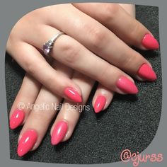 Artistic Nail Design's Rock Hard Liquid & Powder and topped off with and feature nail finished with Artistic's new ❤️ CJ Uk Nails, Swag Nails, Pink Polish, Gel Polish, Artistic Colour Gloss, Hard Nails, Pink Dragon, Dragon Claw, Pink Power