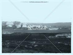 black and white image of mountain range. - High angle black and white image of mountain range.
