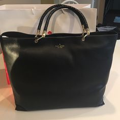 """Brand New Kate Spade Claudine tote Gorgeous soft leather, brand new. Handle detail and side detail that matches. My favorite bag they have right now! Measures 16"""" long x 13"""" tall x 6"""" deep Ⓜ️$260! kate spade Bags Totes"""