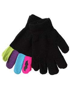 rue21 Mustache Gloves. $5.99. Must. Have. NOW!!!