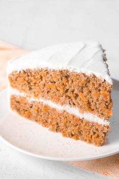 The ULTIMATE Healthy Carrot Cake Recipe! Absolute perfection! This skinny carrot cake doesn't taste healthy at all! My family swears by it -- you'll never need another recipe again! ♡ best carrot cake recipe   carrot cake from scratch   clean eating healthy carrot cake   low calorie healthy carrot cake