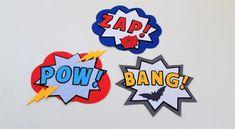 Superhero wall décor - Happy Painting Superhero Party Decorations, Superhero Theme Party, Superhero Wall Art, Superhero Gifts, Bedroom Themes, Nursery Themes, Comic Cloud, Happy Paintings, Super Powers