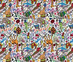 Animaltastic Circus fabric by gsonge on Spoonflower - custom fabric
