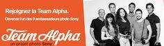 Sony Alpha Team : la sélection est ouverte jusqu'à 13 octobre.