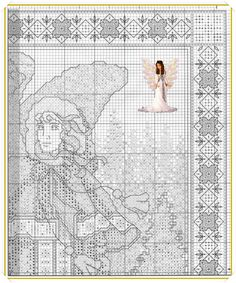 Angel of Frost Stitch And Angel, Cross Stitch Angels, Cross Stitch Charts, Frost, Wings, Cross Stitch, Feathers, Counted Cross Stitches