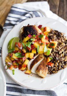 Pan Seared Chicken with Peach SalsaReally nice recipes. Every  Mein Blog: Alles rund um die Themen Genuss & Geschmack  Kochen Backen Braten Vorspeisen Hauptgerichte und Desserts # Hashtag