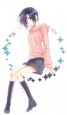 Pixiv Id 3244878, Kingdom Hearts 358/2 Days, Kingdom Hearts, Xion, Black Footwear, Pink Hoodie