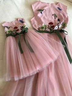 Sodawn 2018 Summer Party Dresses For Gir - Diy Crafts - maallure Frocks For Girls, Kids Frocks, Dresses Kids Girl, Cute Dresses, Kids Outfits, Flower Girl Dresses, Party Dresses, Mother Daughter Fashion, Dress Anak