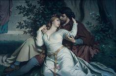 Tristan and Isolde mural, Neuschwanstein, by August Spiess (1881)