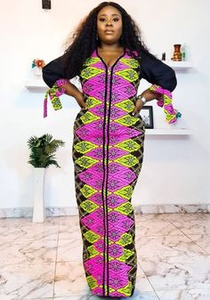 African Fashion Ankara, Latest African Fashion Dresses, African Print Dresses, African Dress, African Attire, African Wear, Girls Kaftan, Latest African Styles, African Blouses