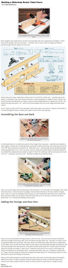 Woodworking Jigs Building a Wide-body Router Table Fence Dremel Router, Diy Router, Best Router, Router Jig, Jet Woodworking Tools, Woodworking Courses, Custom Woodworking, Woodworking Projects Plans, Router Table Fence