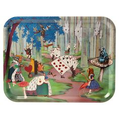 Discover the Avenida Home Louise Kirk - Alice in Wonderland Tray - Alice Lost in the Woods at Amara