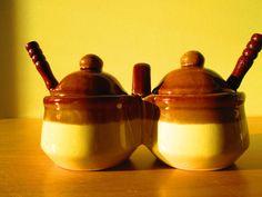 Preserves Set Jam Jars With Spoons by SunriseSunsetVintage on Etsy