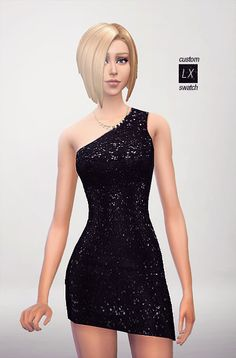 Sims 4 Sequin Dress... Its beautiful and has so much texture!