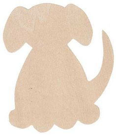 """3"""" Unfinished Wood Dog Cutout - Baby and Kid Theme Cutouts - Wood Cutouts - Unfinished Wood - Craft Supplies"""