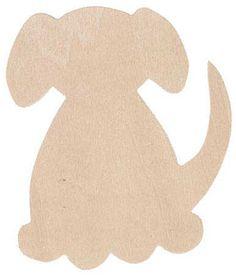Unfinished Wood Dog Cutout