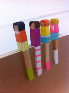 Mark your Page this School Year with A Clothes Pin Buddy that YOU Made at Knitfit!