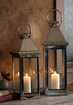 I just acquired a few of these old antique lanterns and now I know what to do with them.  So excited to get started.
