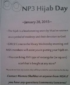"""(Daily Caller) – Hijab Day happened at a taxpayer-funded charter school in the suburbs of Sacramento on Wednesday, Jan. 28. All female students — but only female students — were encouraged to wear Muslim headscarves. The school is Natomas Pacific Pathways Prep in Natomas, Calif.,local Fox affiliate KTXL reports. Wednesday's """"NP3 Hijab Day"""" in Natomas ..."""