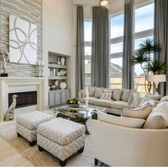 7 Awake ideas: Small Living Room Remodel Stairs living room remodel with fireplace joanna gaines.Living Room Remodel On A Budget Small living room remodel on a budget small.Living Room Remodel On A Budget Creative. Taupe Living Room, Elegant Living Room, Formal Living Rooms, Home Living Room, Apartment Living, Living Room Designs, Living Area, Westin Homes, High Ceiling Living Room