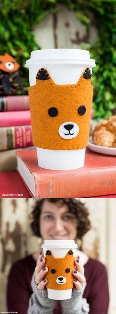 #feltcraft #coffeesleeve www.LiaGriffith.com