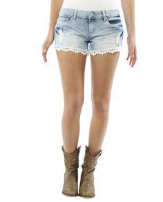 Daisy Applique Fray Short - Shorts