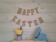 Happy Easter Banner Easter Decor Spring by thegiftgardenshoppe