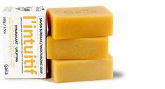 3 SAVONS SURGRAS / L'INTUITIF :un savon surgras & hydratant parfumé aux huiles essentielles de Pamplemousse, d'Orange, de Citron Vert, de Néroli, de Bergamote, de Gingembre.