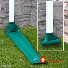 Interesting gutter and drainage solutions. Gutter Drainage, Yard Drainage, Gutter Downspout Extension, Diy Gutters, Drainage Solutions, French Drain, Home Repair, Garden Projects, Diy Projects