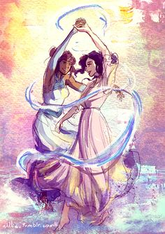 """8x10"""" print of Korra and Asami's first dance."""